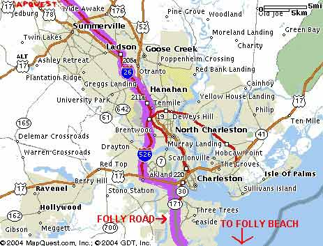 Folly Beach South Carolina Map.Hurricane Evacuation Route For Folly Beach Sc Follybeach Com