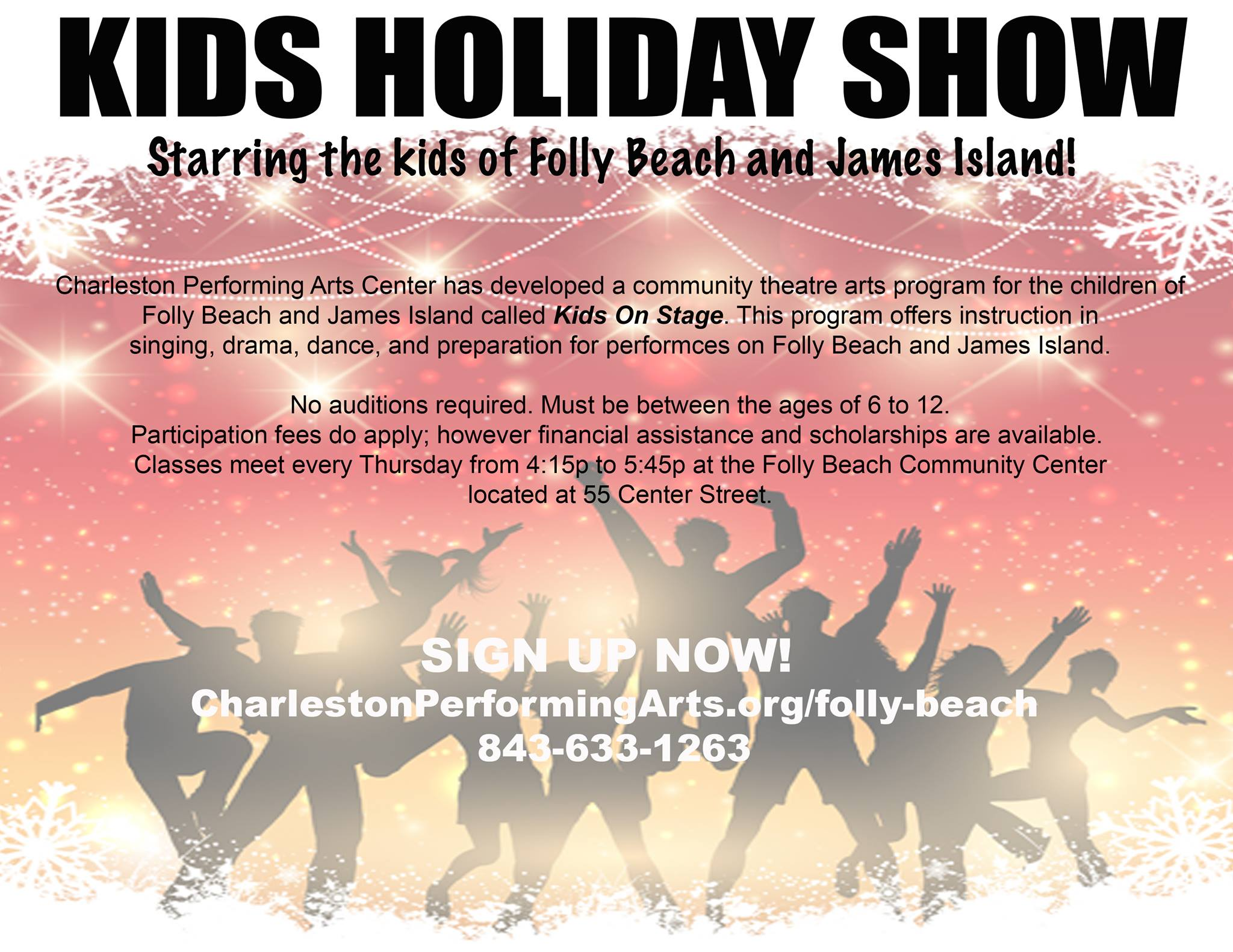 Kids on Stage - Auditions - FollyBeach.com®